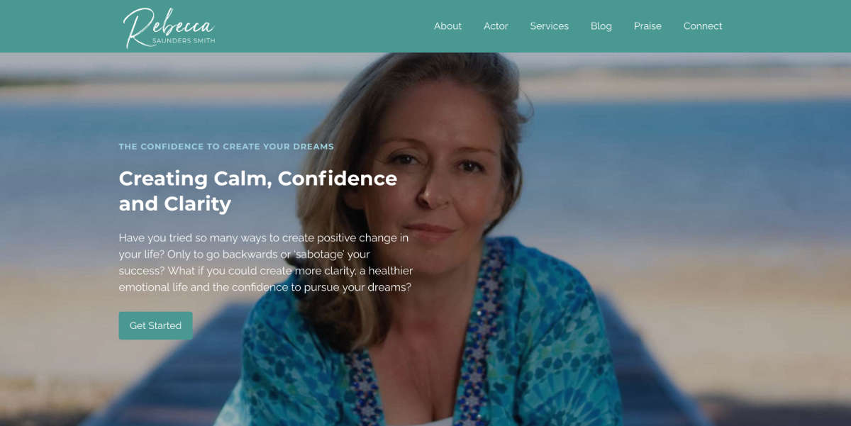 Featured image of Rebecca Saunders-Smith website